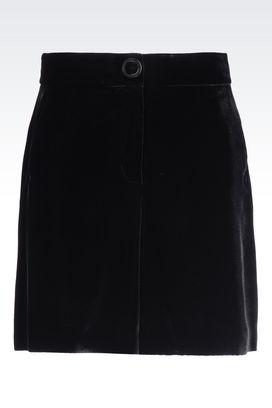 Armani Trousers Women velvet bermuda shorts