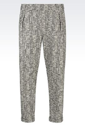 Armani Trousers with tucks Men runway trousers in prince of wales