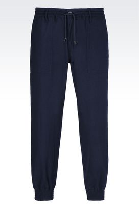 Armani Straight leg pants Men regular fit trousers in wool blend