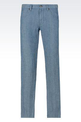 Armani Denim Uomo jeans slim fit in denim di canapa