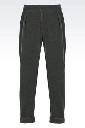Armani Pantaloni Uomo pantalone di sfilata in felpa floccata