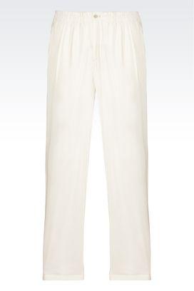 Armani Pantaloni Uomo pantaloni casual in lino e seta