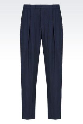 Armani Pantaloni classici Uomo pantaloni casual in cupro