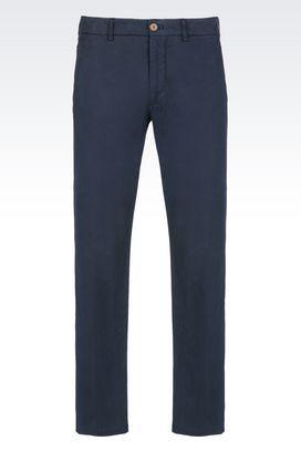 Armani Pantaloni Uomo pantaloni in popeline di cotone