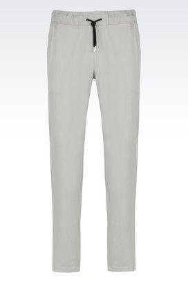 Armani Pantaloni Uomo pantaloni sportswear in cotone