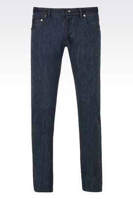 Armani Pantaloni 5 tasche Uomo jeans skinny vintage wash