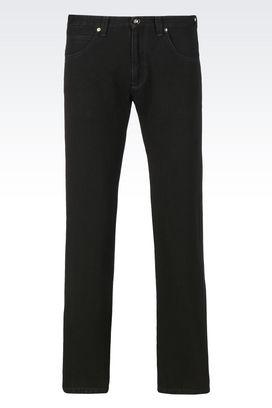 Armani Pantaloni 5 tasche Uomo jeans slim fit in denim giapponese