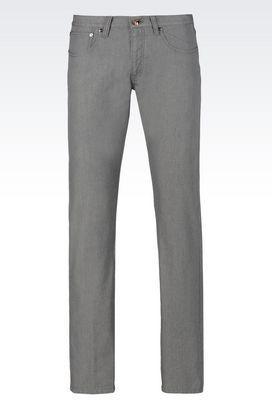 Armani Pantaloni 5 tasche Uomo jeans regular fit in denim giapponese