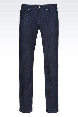 Armani Pantaloni 5 tasche Uomo jeans regular fit in seta e cotone
