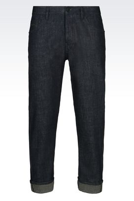 Armani Pantaloni jeans Uomo jeans baggy fit in cotone stretch