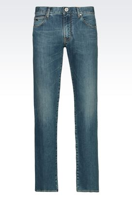Armani Pantaloni jeans Uomo jeans regular fit in cotone stretch