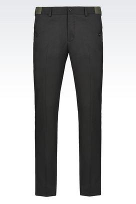 Armani Pants Men mid rise multipocket wool pants