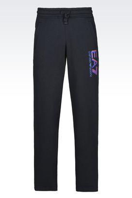 Armani Pants Men visibility line fleece trousers