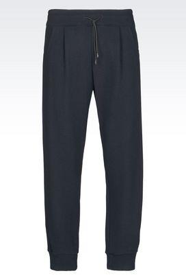 Armani Pantaloni in felpa Uomo pantalone di sfilata in maglia