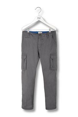 Armani Pants Men gabardine cargo trousers