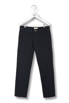 Armani Pants Men 100% cotton chino trousers with button logo