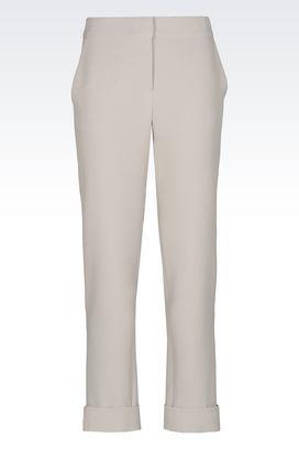 Armani Pants Women trousers in technical fabric