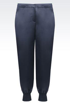 Armani Trousers Women satin trousers