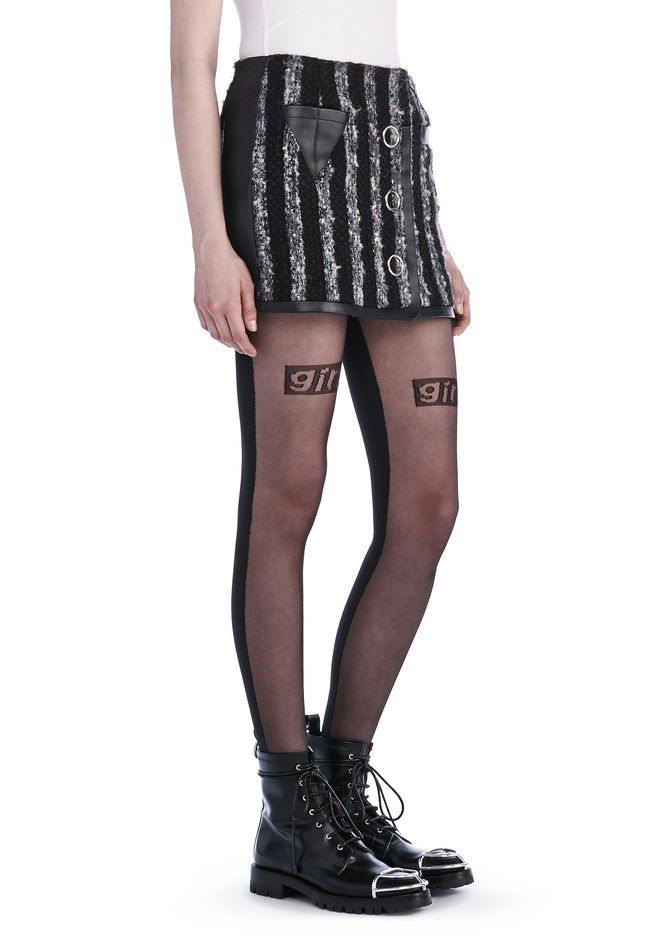 ALEXANDER WANG new-arrivals MINI TWEED SKIRT WITH TRIANGLE POCKET