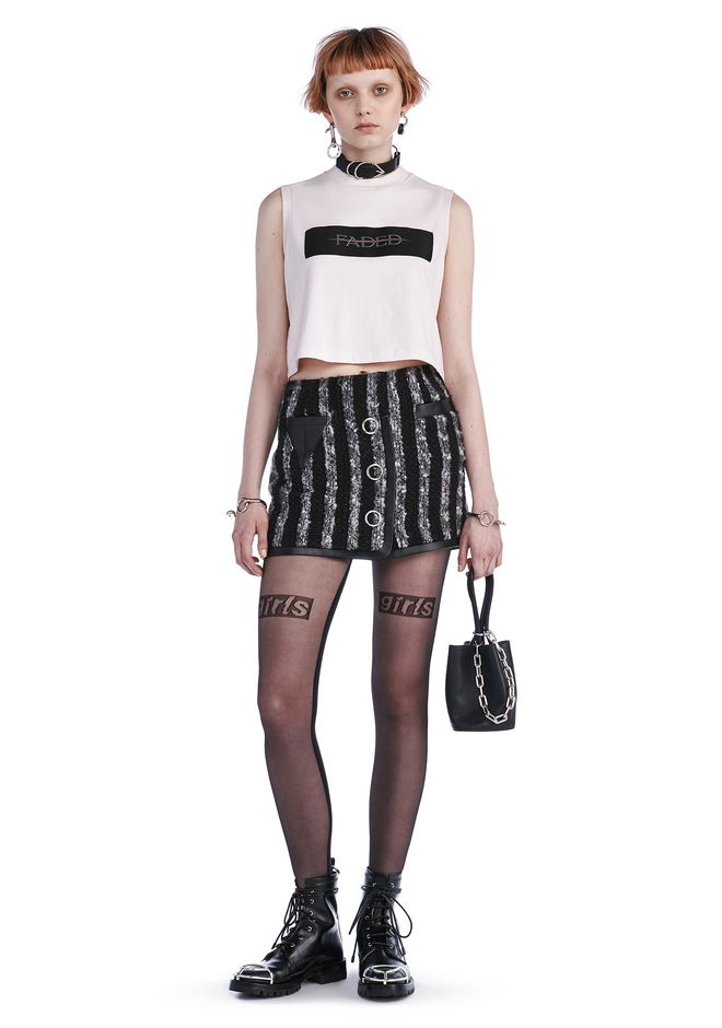 ALEXANDER WANG Skirts MINI TWEED SKIRT WITH TRIANGLE POCKET