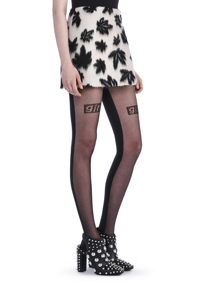 ALEXANDER WANG Skirts Women LEAF MOTIF MINI SKIRT WITH SIDE BELT