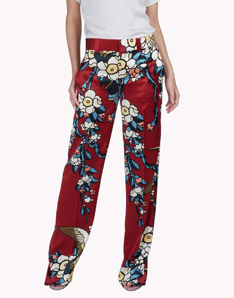cherry blossom maria carla pants trousers Woman Dsquared2