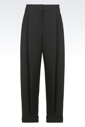 Armani Pants Women runway trousers in technical fabric