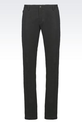 Armani Straight leg pants Men trousers in stretch satin
