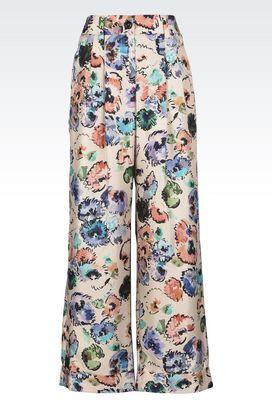Armani Trousers Women runway trousers in silk