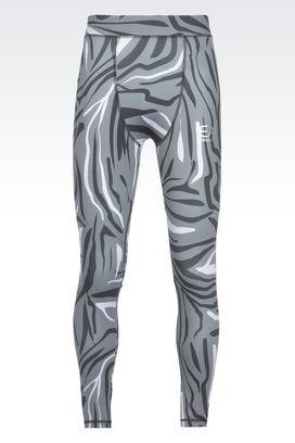 Armani Leggings Men runway technical fabric ski leggings