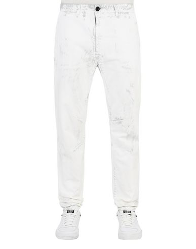 STONE ISLAND Pants 30831 HAND CORROSION ON RASO