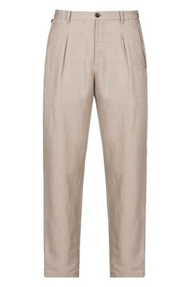 Armani Pants with tucks Men relaxed linen trousers