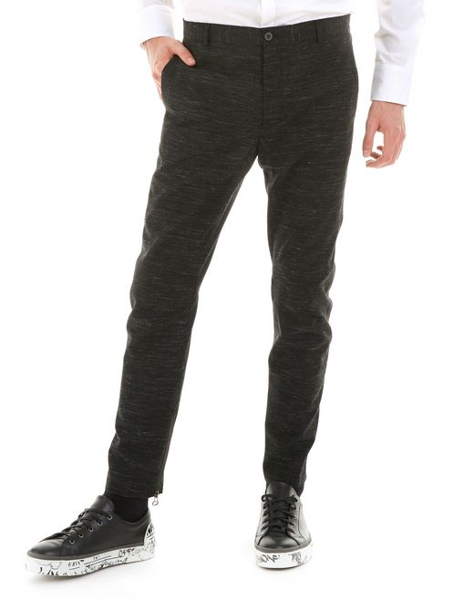 lanvin technical wool biker pants men