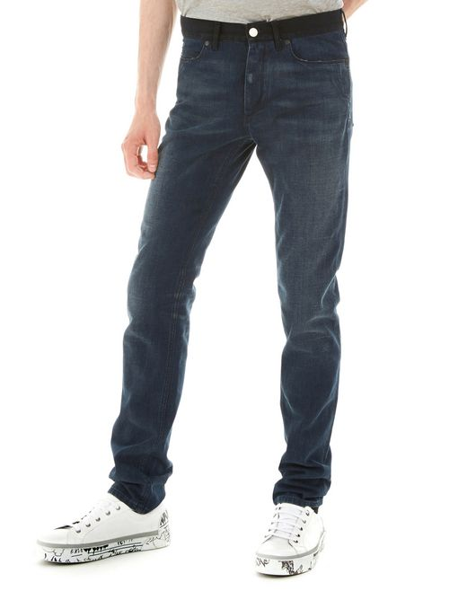 lanvin 5-pocket skinny jeans men