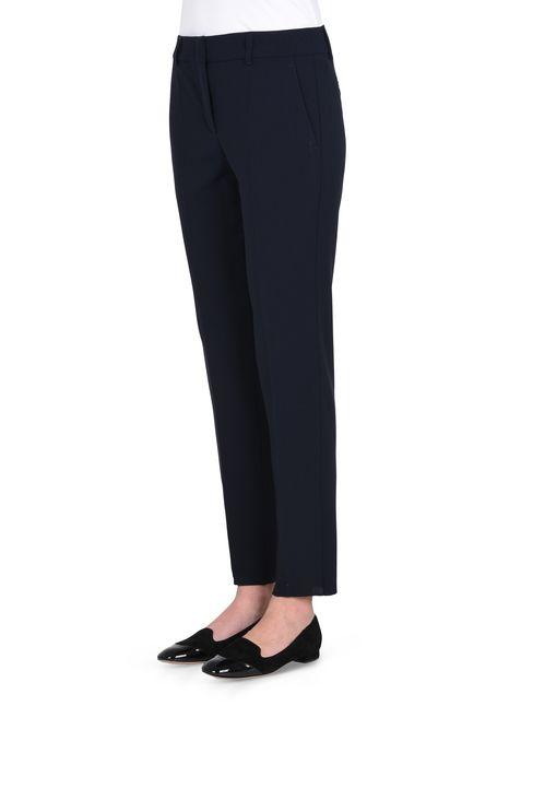 WOOL CREPE CHINOS: Straight leg pants Women by Armani - 3