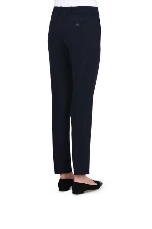 WOOL CREPE CHINOS: Straight leg pants Women by Armani - 4