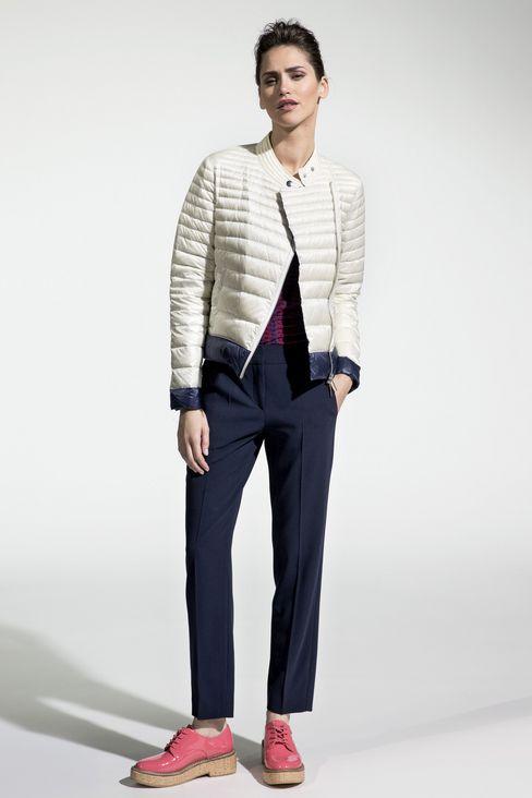 WOOL CREPE CHINOS: Straight leg pants Women by Armani - 2