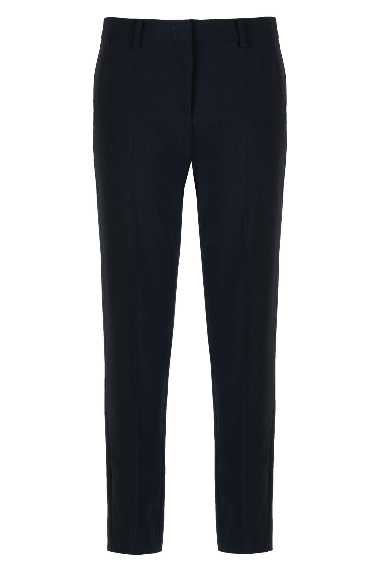 WOOL CREPE CHINOS: Straight leg pants Women by Armani - 0