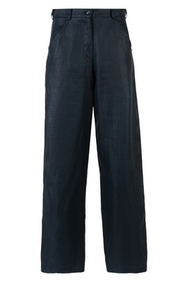 Armani Pantaloni palazzo Donna pantalone 5 tasche in gabardina di lino