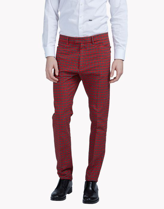 tartan check pants pantaloni Uomo Dsquared2