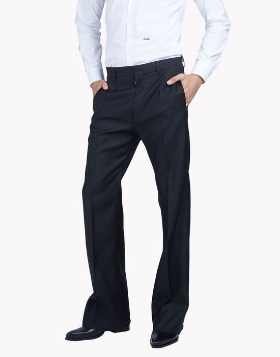 flared wool silk evening pants pants Man Dsquared2