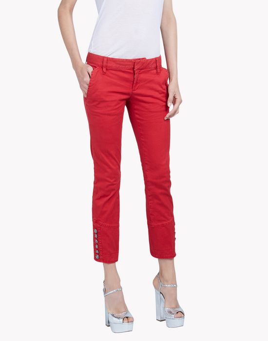 livery cotton pants trousers Woman Dsquared2