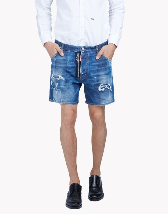 dan commando denim shorts pants Man Dsquared2