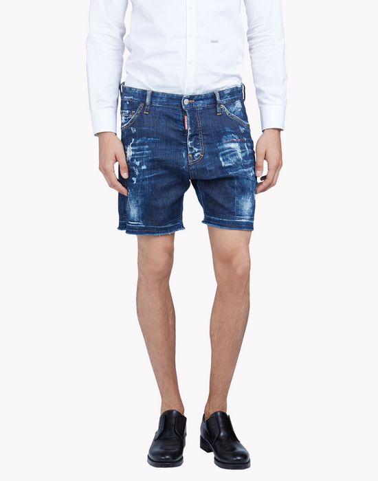 square crotch denim shorts pants Man Dsquared2