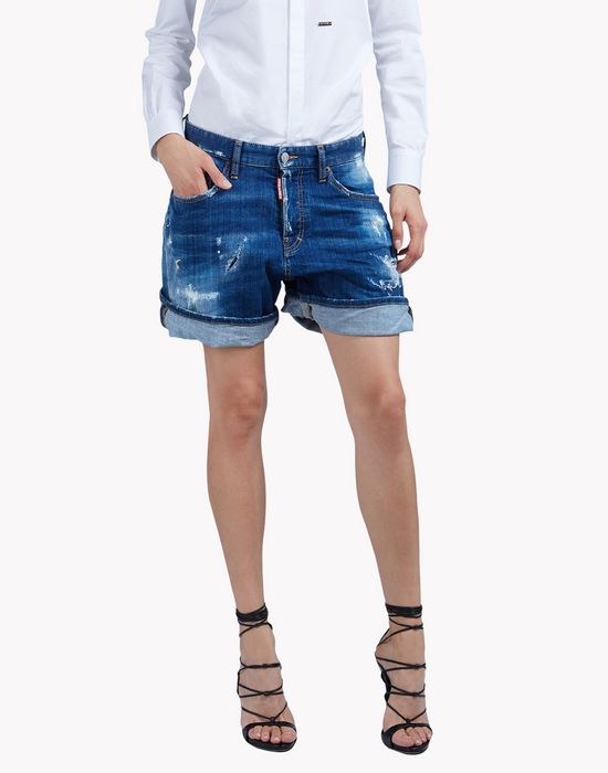kawaii distressed denim shorts trousers Woman Dsquared2