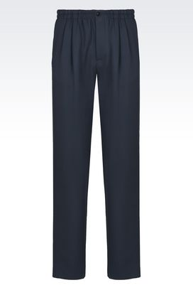Armani trousers Men cavalry twill trousers