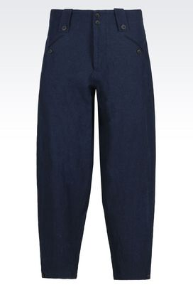 Armani trousers Men cotton linen trousers