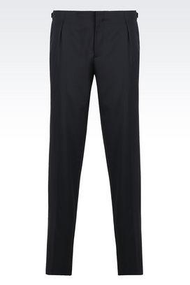 Armani Straight leg trousers Men virgin wool trousers