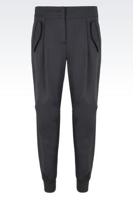 Armani Pantaloni Donna pantaloni in lana stretch con pinces