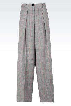Armani Pantaloni Donna pantaloni palazzo in lana e mohair